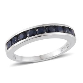 RHAPSODY 950 Platinum 1 Carat AAAA Blue Sapphire Half Eternity Band Ring