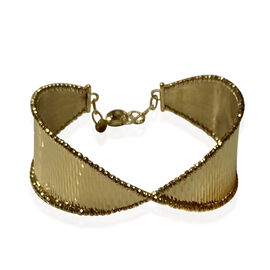 Designer Inspired -9K Y Gold Bangle, One-Size-Fits-All with Safety Clasp Gold wt 11.54 Gms.