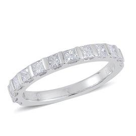 RHAPSODY 950 Platinum 1 Carat IGI Certified Diamond VVS E-F Half Eternity Ring