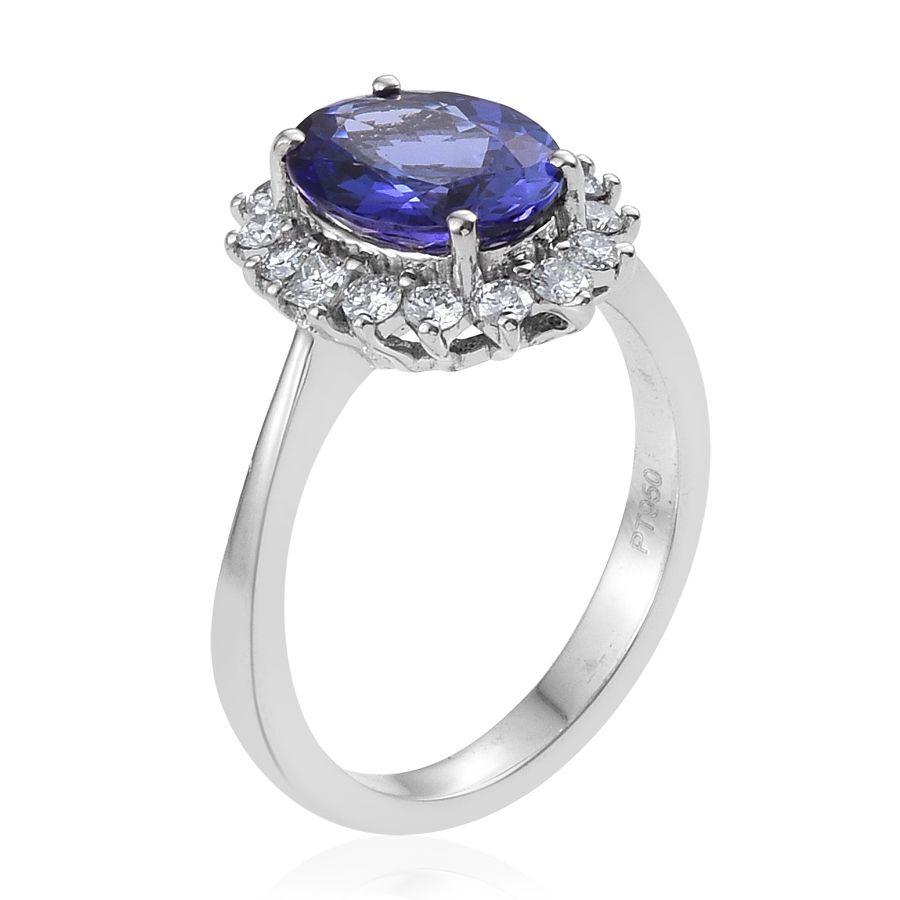 Aaaa Tanzanite Platinum Ring
