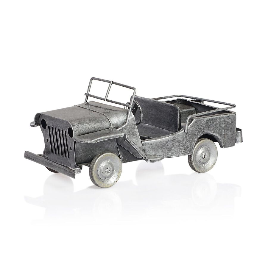Home Decor Silver Colour Handmade Old Jeep Tjc