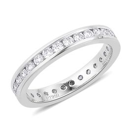 RHAPSODY 950 Platinum 1 Carat IGI Certified Diamond VVS E-F Full Eternity Band Ring