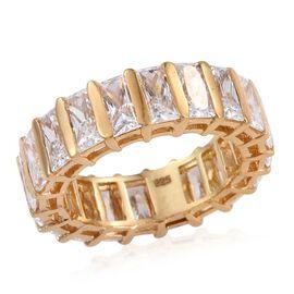 J Francis - 14K Gold Overlay Sterling Silver (Bgt) Full Eternity Ring Made with SWAROVSKI ZIRCONIA